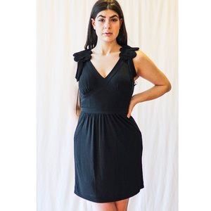 Anthropologie Leifsdottir Black Mini Dress